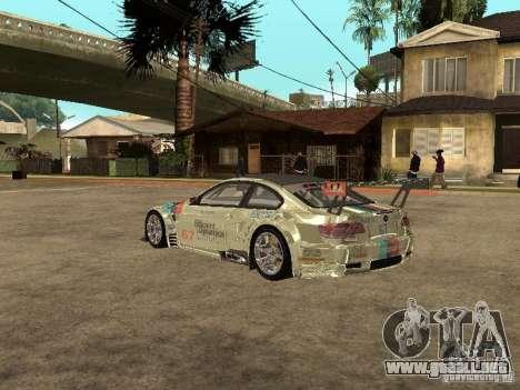 BMW M3 GT2 para GTA San Andreas vista posterior izquierda