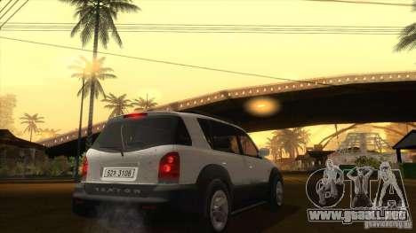 SsangYong Rexton 2005 para GTA San Andreas vista hacia atrás