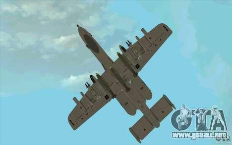 A-10 Warthog para vista lateral GTA San Andreas