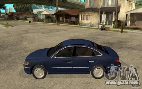 Hyundai Azera 2009 arb drift para GTA San Andreas left