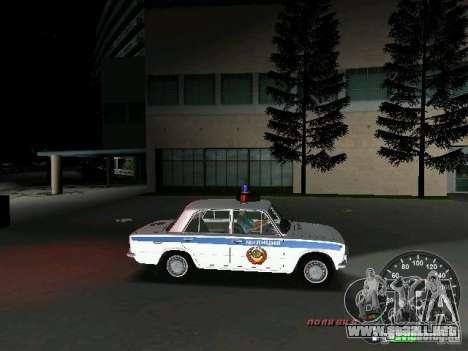 VAZ 2101 policía para GTA Vice City vista interior