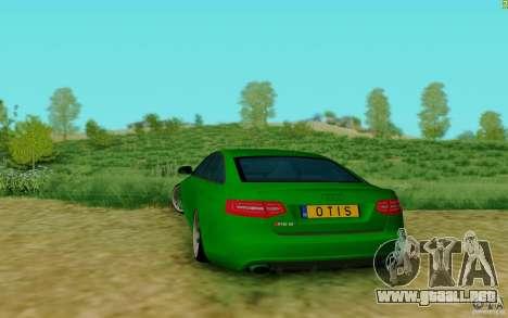 Audi RS6 OTIS para GTA San Andreas vista posterior izquierda