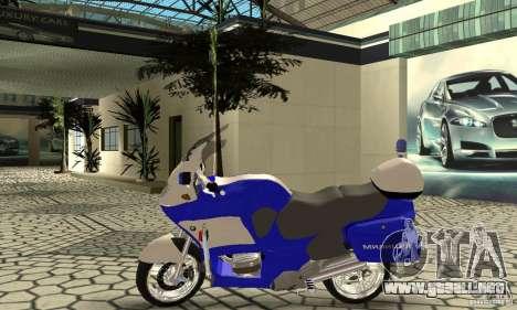 Motocicleta de la policía rusa para GTA San Andreas vista posterior izquierda