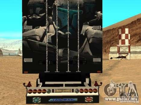 Star Wars Trailer para GTA San Andreas vista posterior izquierda