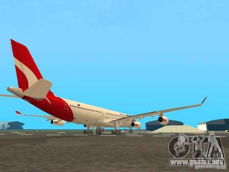 Airbus A340-300 Qantas Airlines para GTA San Andreas vista hacia atrás