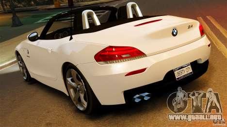 BMW Z4 sDrive 28is 2012 v2.0 para GTA 4 left