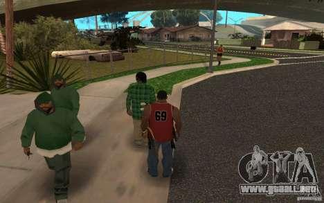 Skins Grove Street para GTA San Andreas segunda pantalla