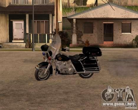 Harley Davidson Police 1997 para GTA San Andreas left