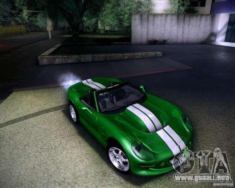 Shelby Series One 1998 para vista inferior GTA San Andreas