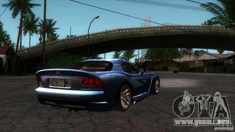 Dodge Viper SRT10 Stock para la visión correcta GTA San Andreas