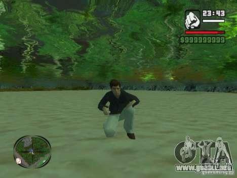 Tony Montana en una camisa para GTA San Andreas tercera pantalla