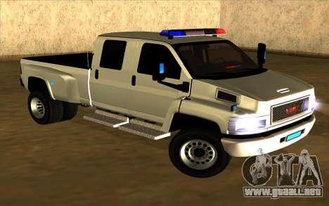 GMC Topkick C4500 para GTA San Andreas left