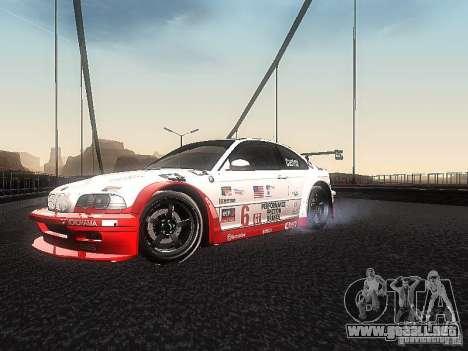 BMW M3 GTR1 para GTA San Andreas left