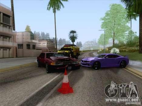 Accidente en la carretera para GTA San Andreas sucesivamente de pantalla
