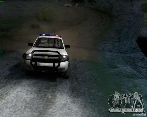 Chevrolet Silverado Police para GTA San Andreas left