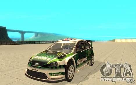 Ford Focus RS WRC 08 para las ruedas de GTA San Andreas