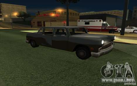 Civilian Cabbie para GTA San Andreas vista hacia atrás