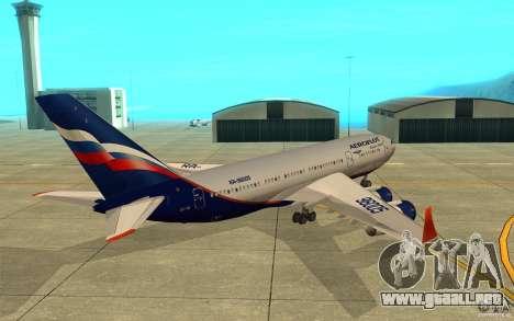 El IL-96-300 Aeroflot en nuevos colores para la visión correcta GTA San Andreas