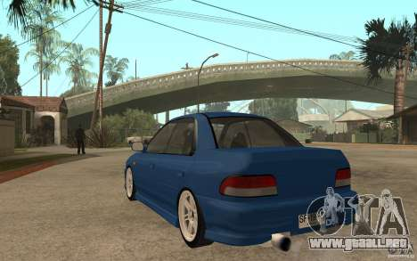 Subaru Impreza GC8 JDM SPEC para GTA San Andreas vista posterior izquierda