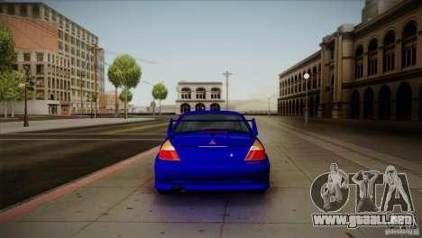Mitsubishi Lancer Evolution lX para la visión correcta GTA San Andreas