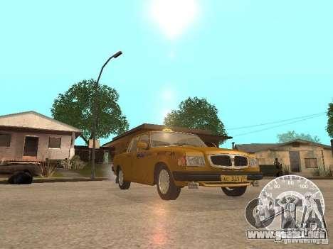 Taxi Volga GAZ 3110 para la vista superior GTA San Andreas