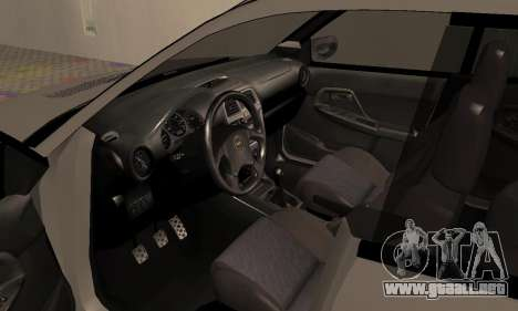 Subaru Impreza WRX Wagon para GTA San Andreas vista hacia atrás