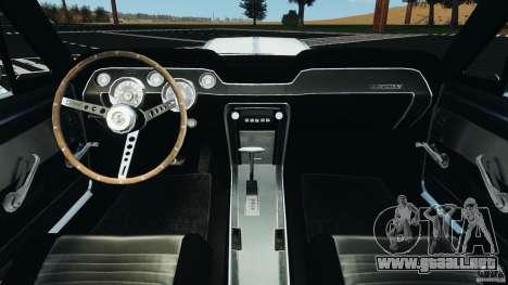 Shelby GT 500 Eleanor v2.0 para GTA 4 vista hacia atrás
