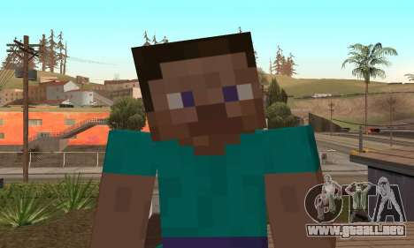 Steve de la piel de Minecraft juego para GTA San Andreas quinta pantalla