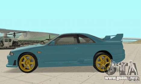 Nissan Skyline R33 Tuning para GTA San Andreas left