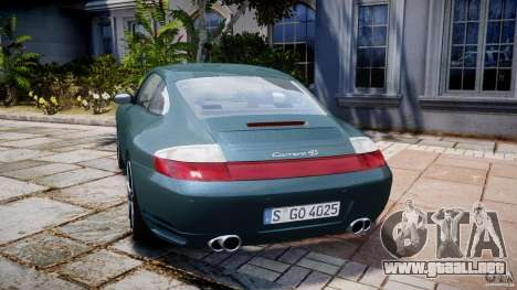 Porsche 911 (996) Carrera 4S para GTA 4 Vista posterior izquierda