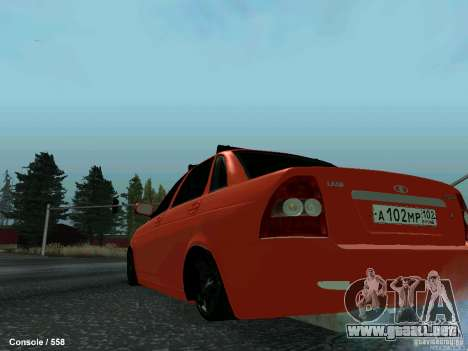 LADA 2170 102-RUS para GTA San Andreas vista posterior izquierda