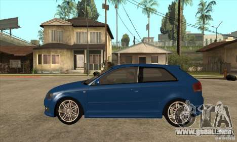 Audi S3 2007 - Stock para GTA San Andreas left