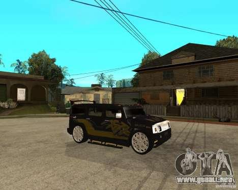 H2 HUMMER DUB LOWRIDE para la visión correcta GTA San Andreas