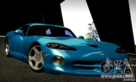 Dodge Viper para GTA San Andreas vista posterior izquierda