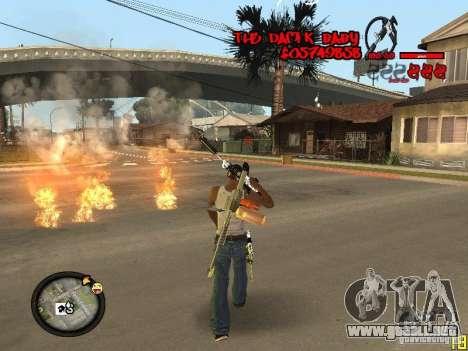 Hud by Dam1k para GTA San Andreas sucesivamente de pantalla