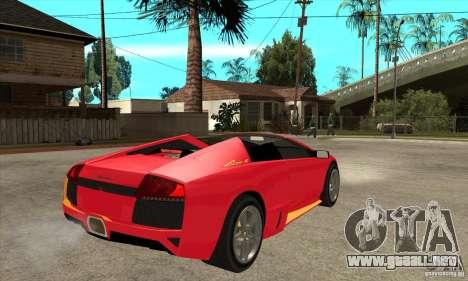 Lamborghini Murcielago LP650 para la visión correcta GTA San Andreas