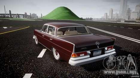 Mercedes-Benz W111 v1.0 para GTA 4 Vista posterior izquierda