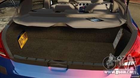 Peugeot 308 2007 para GTA 4 vista superior