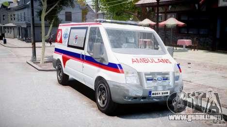 Ford Transit Polish Ambulance [ELS] para GTA 4 visión correcta