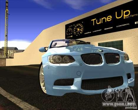 BMW M3 Convertible 2008 para visión interna GTA San Andreas