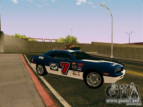Dodge Challenger SRT8 para vista lateral GTA San Andreas