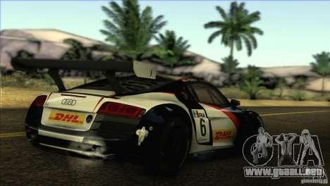 Audi R8 LMS para GTA San Andreas left