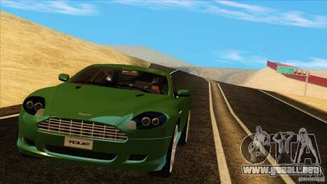 Aston Martin DB9 para vista lateral GTA San Andreas