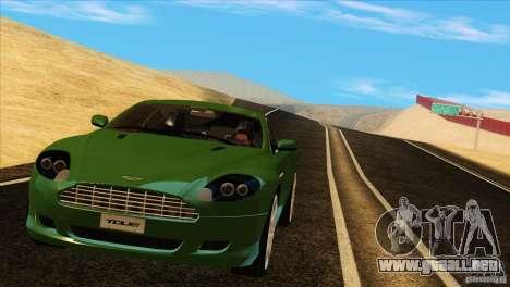 Aston Martin DB9 para vista lateral GTA San Andreas