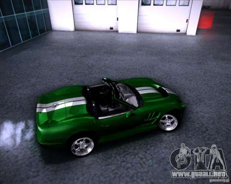 Shelby Series One 1998 para la vista superior GTA San Andreas
