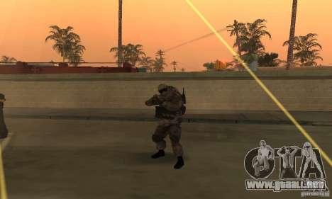Soldados de la CoD MW para GTA San Andreas segunda pantalla