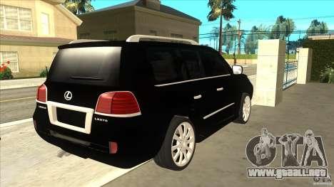 Lexus LX 570 para la visión correcta GTA San Andreas