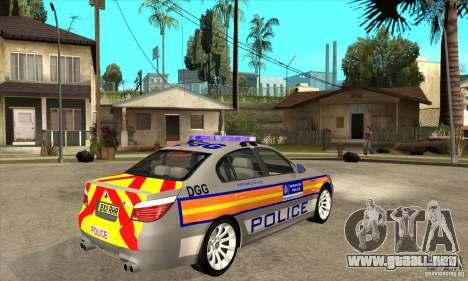 Metropolitan Police BMW 5 Series Saloon para la visión correcta GTA San Andreas