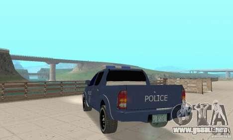 Toyota Hilux Somaliland Police para GTA San Andreas left