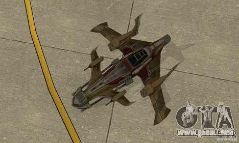 Hydra TimeShift Skin 1 para GTA San Andreas vista hacia atrás